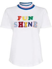 Mira Mikati Funshine Flocked Applique Striped Cotton t-shirt - Farfetch at Farfetch