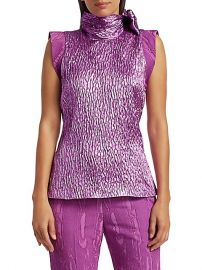 Mirar Jacquard Metallic Tie-Neck Top by Rachel Comey at Saks Fifth Avenue