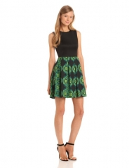 Mirror print dress by Taylor Dresses at Amazon