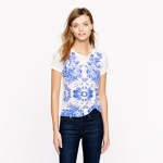 Mirrored floral tee from J Crew at J. Crew
