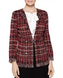 Misook Plaid Tweed Knit Jacket at Bloomingdales