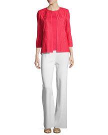 Misook Textured 3 4-Sleeve Jacket  Sorbet   Neiman Marcus at Neiman Marcus