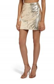 Missguided Crackled Metallic Miniskirt at Nordstrom