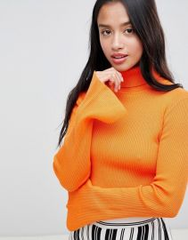 Missguided Petite High Neck Ribbed Crop Sweater by Missguided at Asos at ASOS