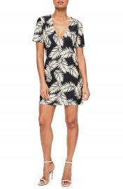 Missguided Print Plunge T-Shirt Dress at Nordstrom