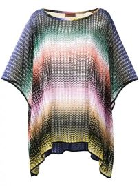 Missoni Mare Short zig-zag Stripe Poncho - Farfetch at Farfetch