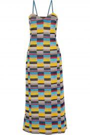 Missoni Metallic crochet-knit midi dress at The Outnet