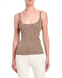Missoni Space-Dye Scoop Neck Tank Top at Neiman Marcus