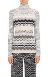 Missoni Zigzag-Knit Turtleneck Sweater at Barneys