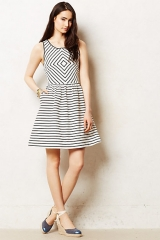 Mitred Striped Dress at Anthropologie