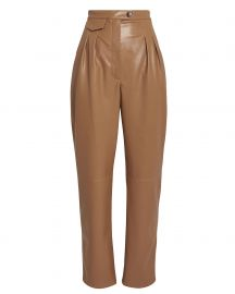 Mitsu Vegan Leather Tapered Trousers at Intermix