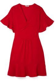 Miu Miu - Ruffled cady dress at Net A Porter