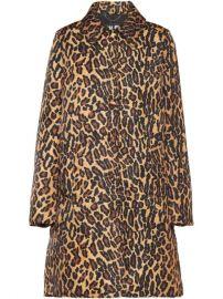 Miu Miu Leopard Print Buttoned Coat - Farfetch at Farfetch