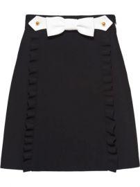 Miu Miu Ruffle Bow Mini Skirt - Farfetch at Farfetch