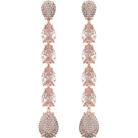 Mix Pierced Earrings in Pink Rose Gold Plating at Swarovski