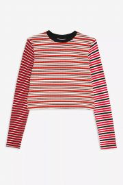Mix Stripe Long Sleeve Top by Topshop at Topshop