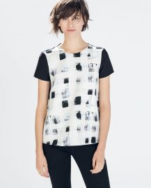 Mixed Fabric Top at Zara