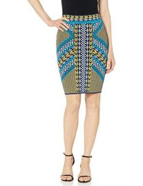 Mixed Geo Motif Pencil Skirt at Amazon