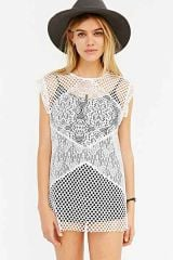 Mixed Lace Top at Urban Outfitters