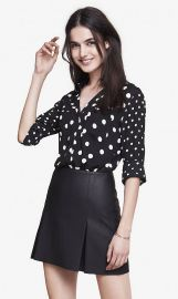 Mixed Polka Dot Shirt at Express