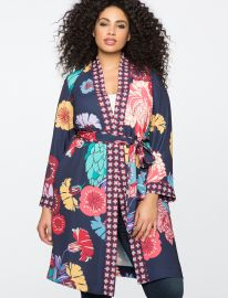 Mixed Print Duster by Eloquii at Eloquii