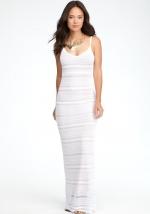 Mixed Stich Maxi dress by Bebe at Bebe