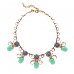Mixed crystals necklace at J. Crew