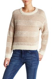 Mixed stitch sweater at Nordstrom Rack