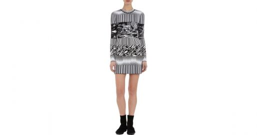 Mixedpattern Jacquard Knit Dress by Balenciaga at Barneys