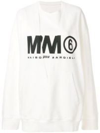 Mm6 Maison Margiela Logo Printed Sweatshirt - Farfetch at Farfetch