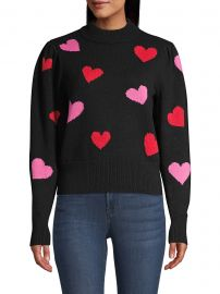 Mock-Neck Hearts Sweater at Saks Fifth Avenue