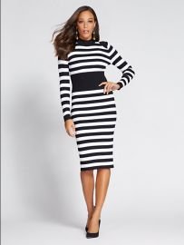 Mock Neck Sweater Dress - Gabrielle Union Collection at NY&C