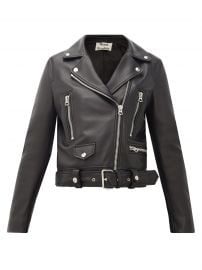 Mock smooth-leather biker jacket at Matches
