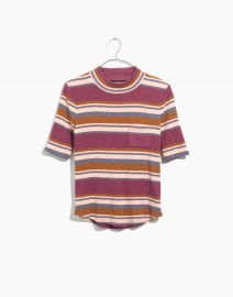 Mockneck Shirttail Tee in Stripe at Madewell