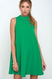 Mod Maven Green Swing Dress at Lulus