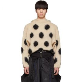 Mohair Dotted Hoodie by Random Identities at Ssense