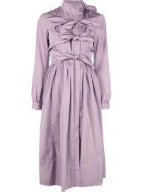 Molly Goddard Tie Detail Dress   - Farfetch at Farfetch