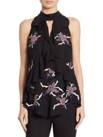 Moma Ruffle Silk Top by Cinq a Sept at Saks Off 5th