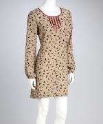Mona's bird print dress at Zulily