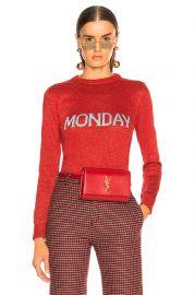 Monday Lurex Crewneck Sweater at Forward