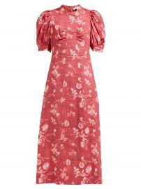 Monet floral-print A-line ramie midi dress at Matches
