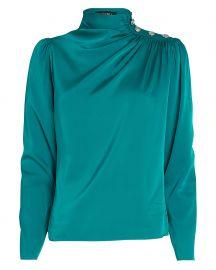 Monica Draped Silk Blouse by Intermix at Intermix