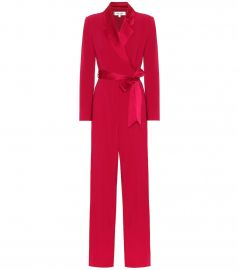 Monica satin-trimmed jumpsuit at Mytheresa