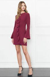 Monner Bell Sleeve Stretch-Crepe Mini Dress at Rachel Zoe