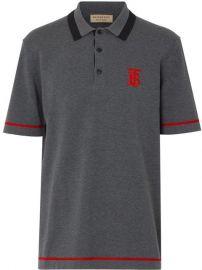 Monogram Motif Tipped Cotton Jersey Polo Shirt at Farfetch