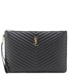 Monogram leather pouch at Mytheresa