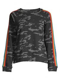Monrow - Camo Vintage Raglan Sweatshirt at Saks Fifth Avenue