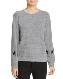 Monrow Star Sleeve Sweatshirt at Bloomingdales