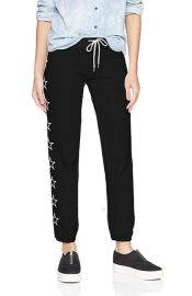 Monrow Vintage Sweats Embroidered Outline Stars at Amazon