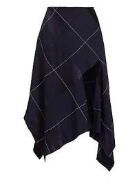 Monse - Asymmetric Argyle Midi Skirt at Saks Fifth Avenue